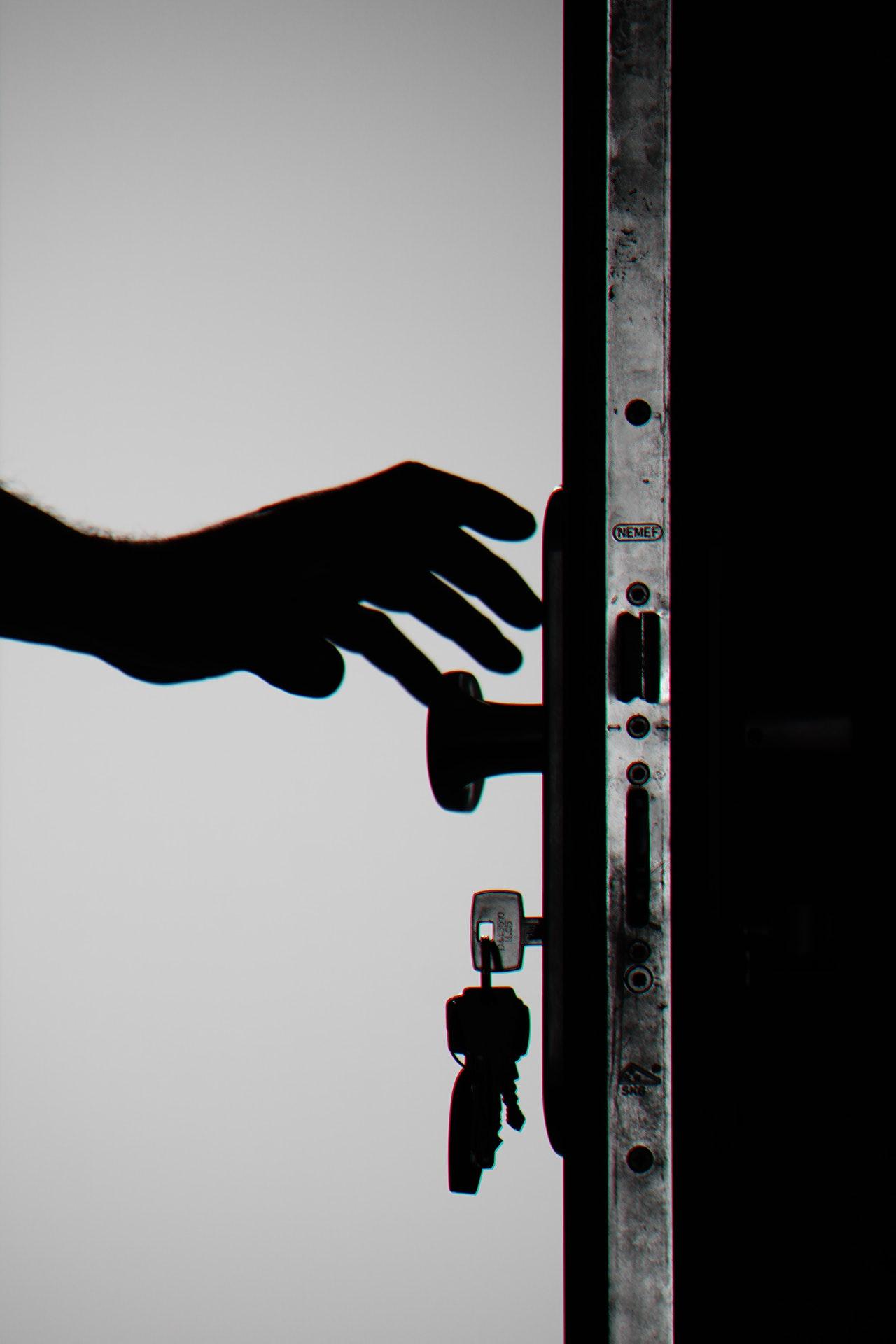 inbraak deur sleutel